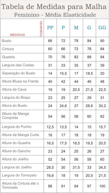 Tabela_medidas Femininas